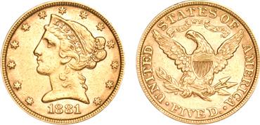 $5 Liberty Half Eagle