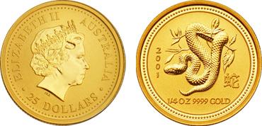 Australian Lunar Snake Gold Coin