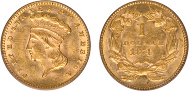 Indian Gold Dollar Type II