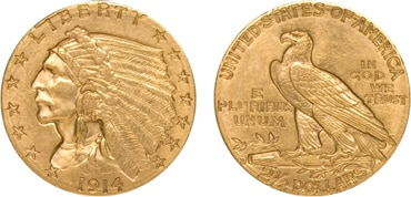 $2.50 Indian Gold Coin
