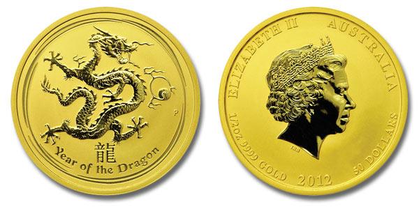 Australian Dragon Gold Coin