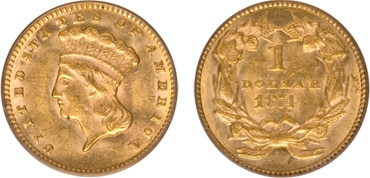 Indian Gold Dollar Type II