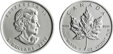 Silver Canadian Maple Leaf