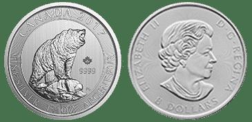 1.5 oz. Silver Grizzly Bear Coin