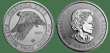 1.5 oz. Silver White Falcon Coin